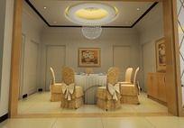 3D餐厅模型