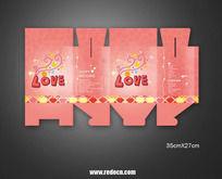 LOVE喜糖包装平面图