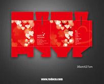 结婚喜糖包装盒设计素材