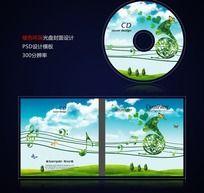 绿色环保低碳节能光盘封面设计psd