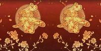 吉祥图案春字鲜花落叶春节视频素材