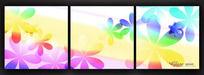 花朵儿童房无框画素材