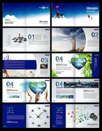 蓝色科技画册素材