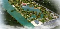 清水平台景观规划鸟瞰psd素材