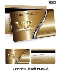 金属背景花纹VIP卡