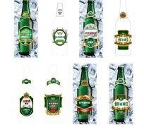 鲜啤酒瓶瓶贴设计