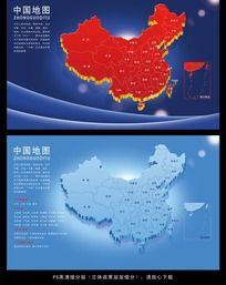 11款 中国地图psd图片素材下载