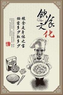 反对浪费 中国风饮食文化展板