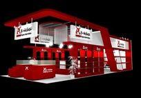 红色家电展台模型设计