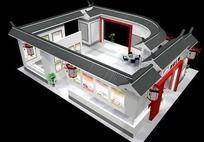 古典展厅max模型展厅