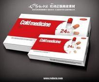 红色感冒药盒素材 AI