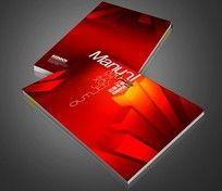 红色公司画册封面设计