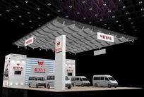 灰色汽车展厅3d模型设计