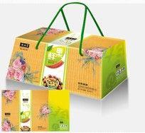 水果礼盒设计平面展开图_包装设计/手提袋图片素材图片