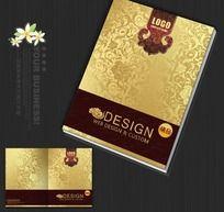 尊贵高档金色画册封面设计