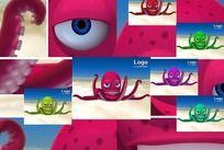 3D卡通动物章鱼