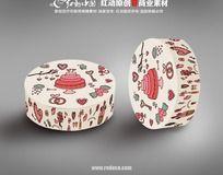 卡通可爱圆形蛋糕盒