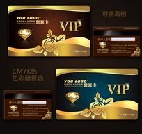 金色尊贵高档VIP卡会员卡设计