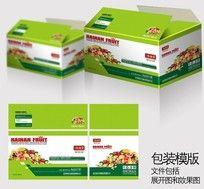 绿色水果包装纸箱设计
