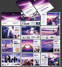 紫色企业形象宣传册设计素材