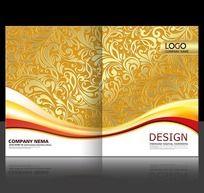 金色尊贵花纹画册封面设计
