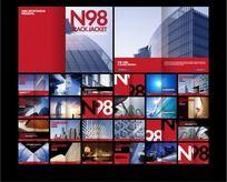 红色建筑画册