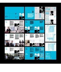 淡蓝色现代科技企业画册