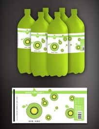 猕猴桃饮料瓶贴包装