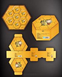 六方形蜂蜜包装盒设计
