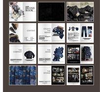 牛仔服装时尚杂志画册 AI