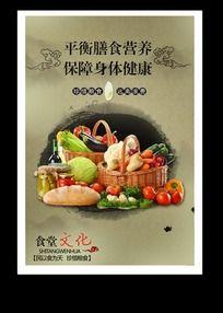 健康饮食食堂文化标语图片
