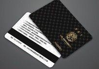 精美花纹黑色VIP会员卡矢量设计