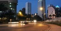 延时拍摄城市车流高清LED大屏幕视频素材 mov