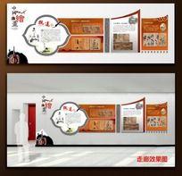 中国绘画介绍展板设计 走廊文化布置造型