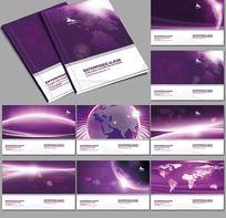 紫色画册时尚封面