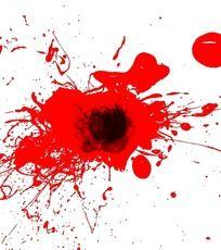 泼墨般的血迹 PSD