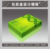 草绿色包装盒平面图与效果图