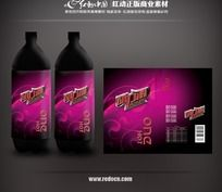 动力源饮料瓶贴设计 PSD