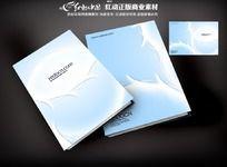 蓝色国外画册封面