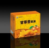 甘草杏包装设计盒