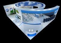 太阳能展会展台3d模型