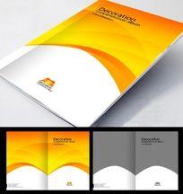 金黄色招商画册封面设计PSD分层