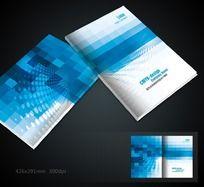 蓝色格子画册封面
