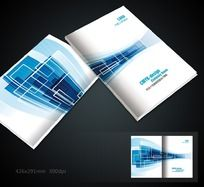 蓝色简洁画册封面