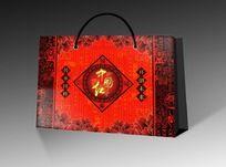 中国红高档喜庆手提袋