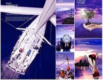 紫色高档企业文化海报