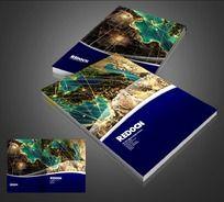 国际旅行社宣传册封面psd