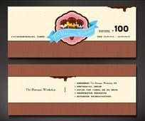 巧克力甜品店代金券