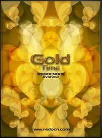 黄金时代绚丽金色海报背景