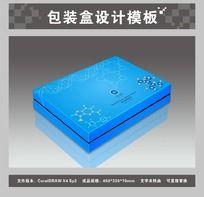 8款 蓝色包装盒效果图素材CDR下载